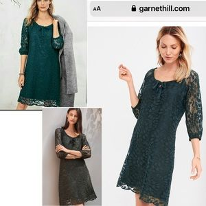 Garnet Hill 12 green Bohème Easy Lace Dress
